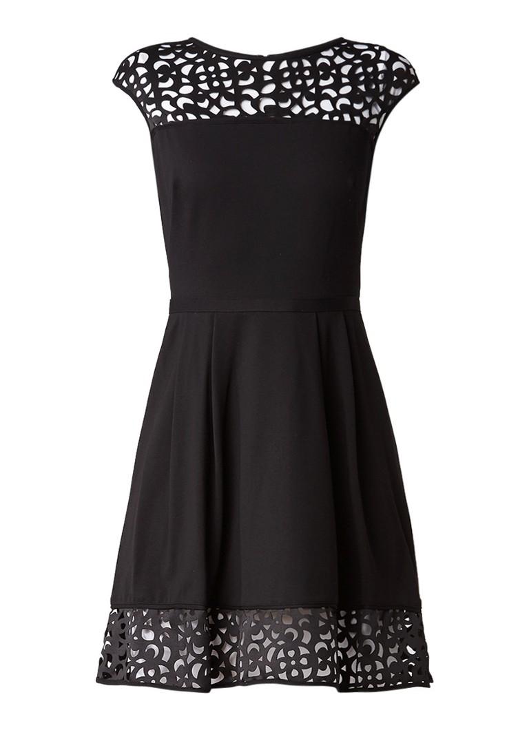 Ralph Lauren A-lijn jurk met opengewerkte details zwart