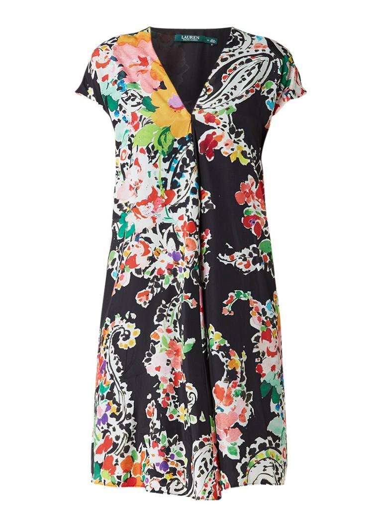 Ralph Lauren Shift jurk met paisley bloemdessin multicolor