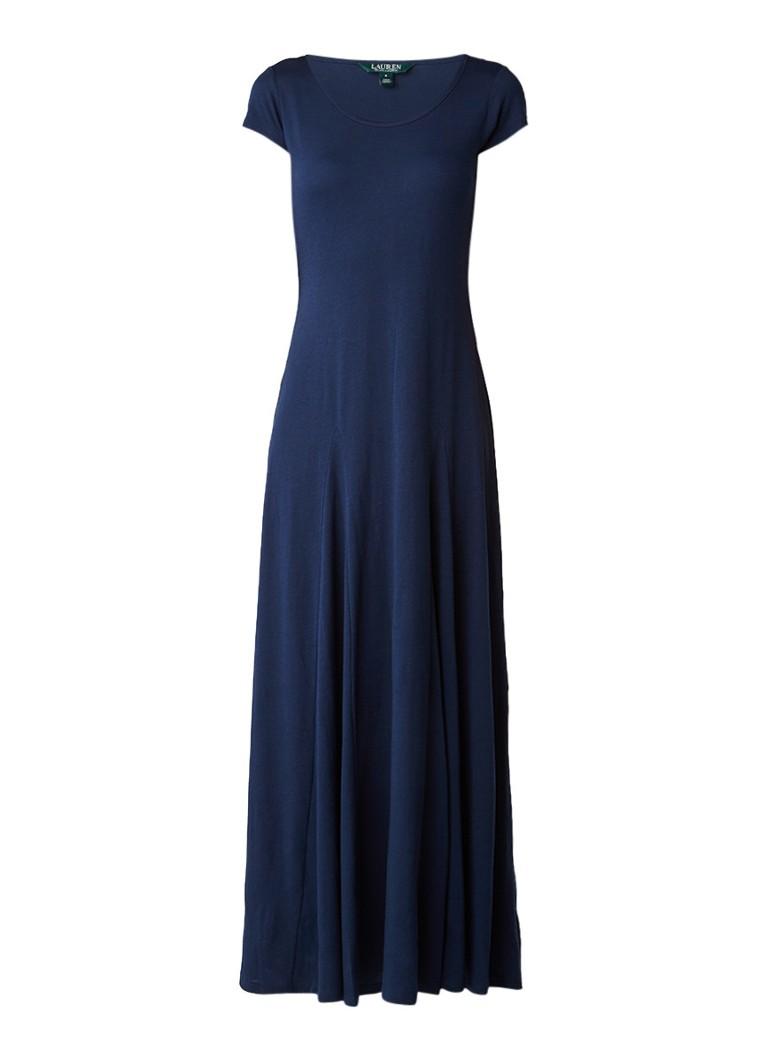 Ralph Lauren Maxi-jurk in katoenblend donkerblauw