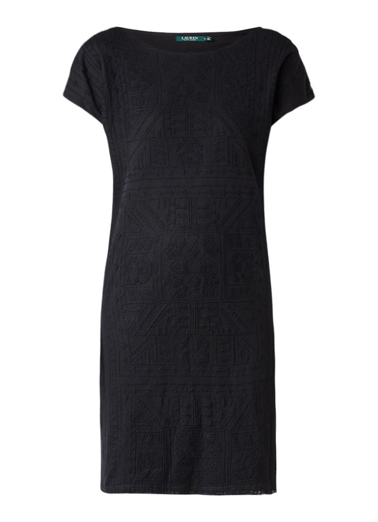 Ralph Lauren Tuniekjurk met ingebreid patroon zwart
