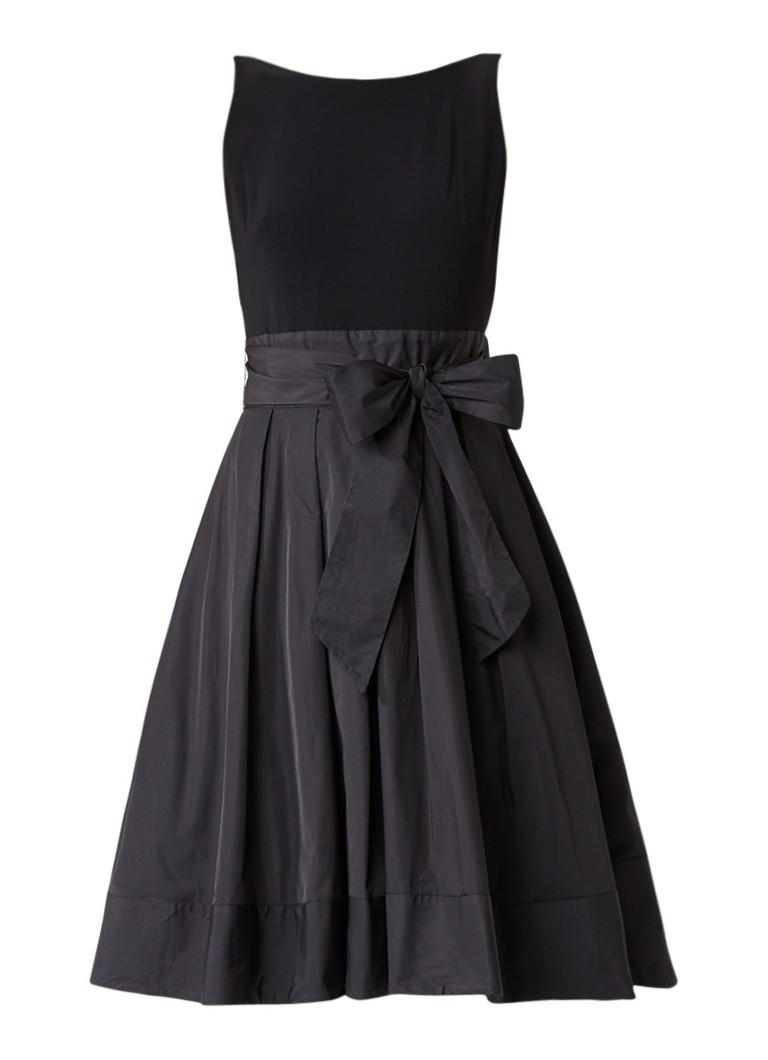 Ralph Lauren A-lijn jurk met strikdetail zwart
