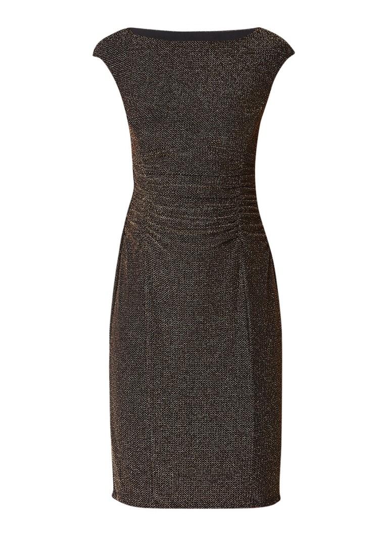 Ralph Lauren Terri midi jurk met rimpeldetail goud