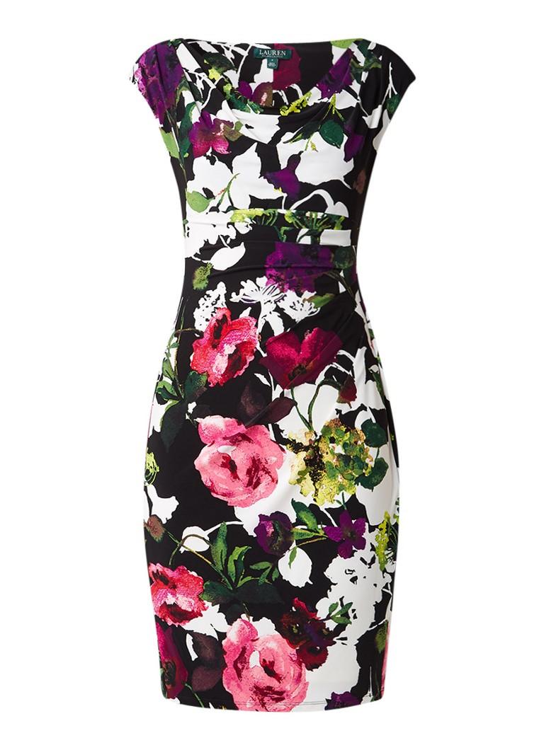 Ralph Lauren Jurk met kleurrijk bloemendessin multicolor