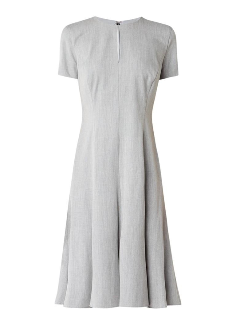 Ralph Lauren Gemêleerde midi-jurk met keyhole grijsmele