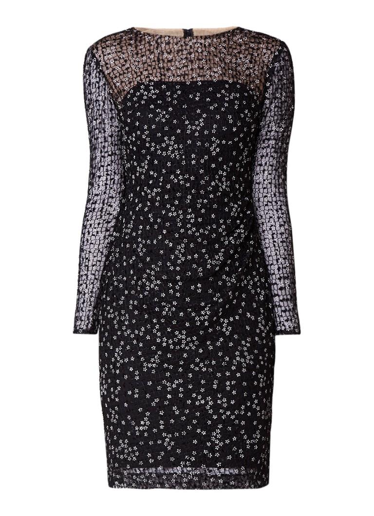 Ralph Lauren Sialla semi-transparante jurk met bloemendessin zwart