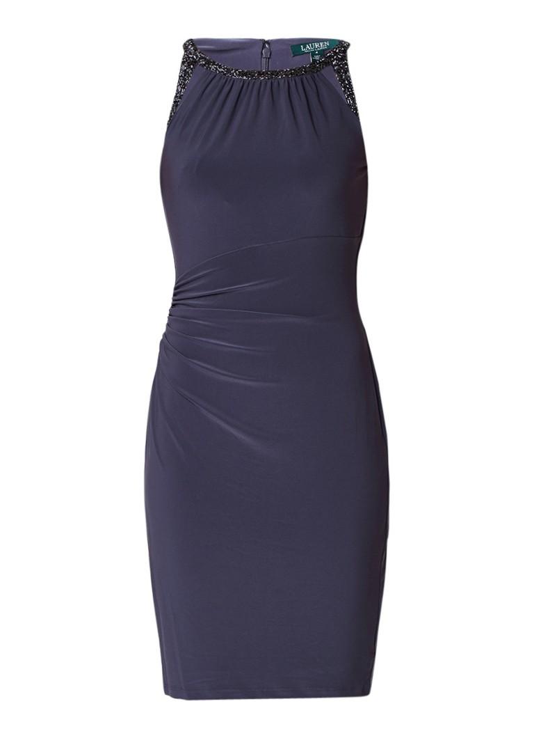 Ralph Lauren Pluma midi-jurk met cut-out detail en strass donkergrijs
