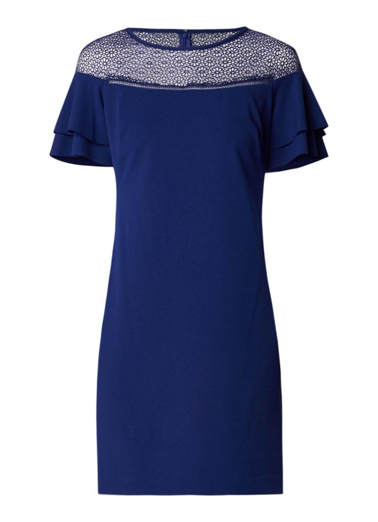 Ralph Lauren Bibina tuniekjurk met kant en volantmouw donkerblauw