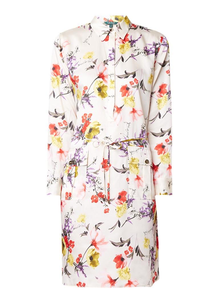 Ralph Lauren Midi blousejurk met bloemendessin lichtroze