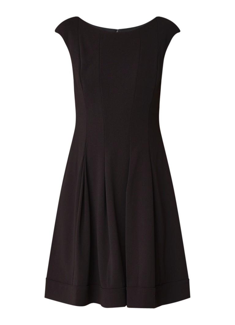 Ralph Lauren Fareeda A-lijn jurk met boothals en siernaden zwart