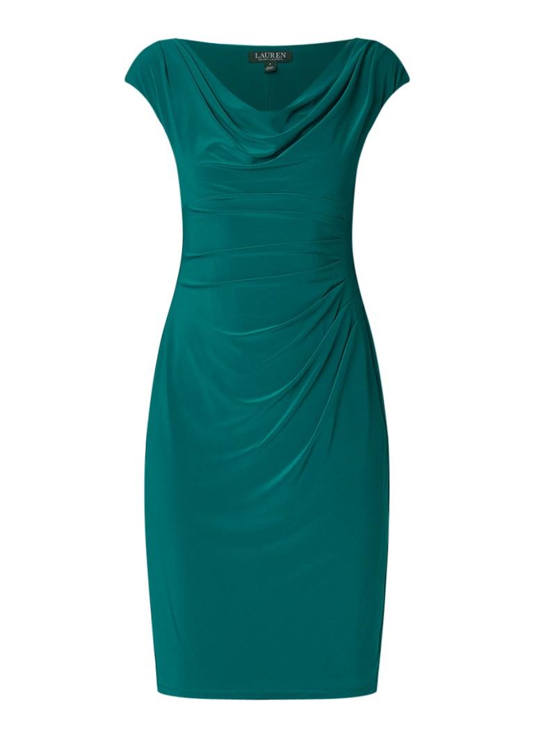 Ralph Lauren Mouwloze kokerjurk met draperie groen