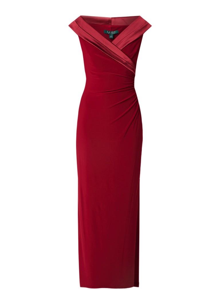 Ralph Lauren Leonetta galajurk van jersey met V-hals rood