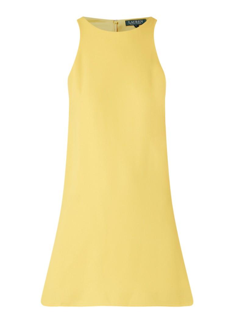 Ralph Lauren Mouwloze A-lijn shiftjurk geel