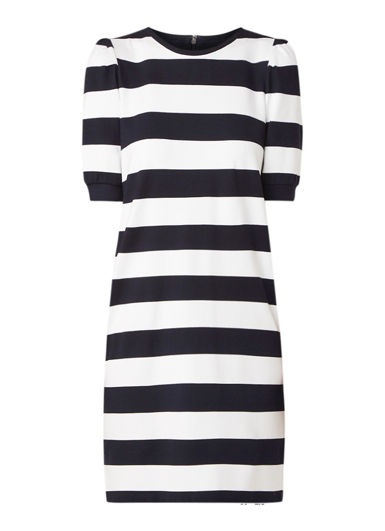Ralph Lauren T-shirt jurk met streepdessin donkerblauw