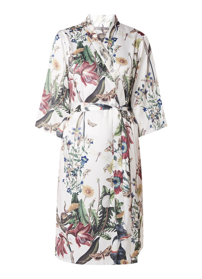 Essenza Sarai kimono van satijn met bloemendessin