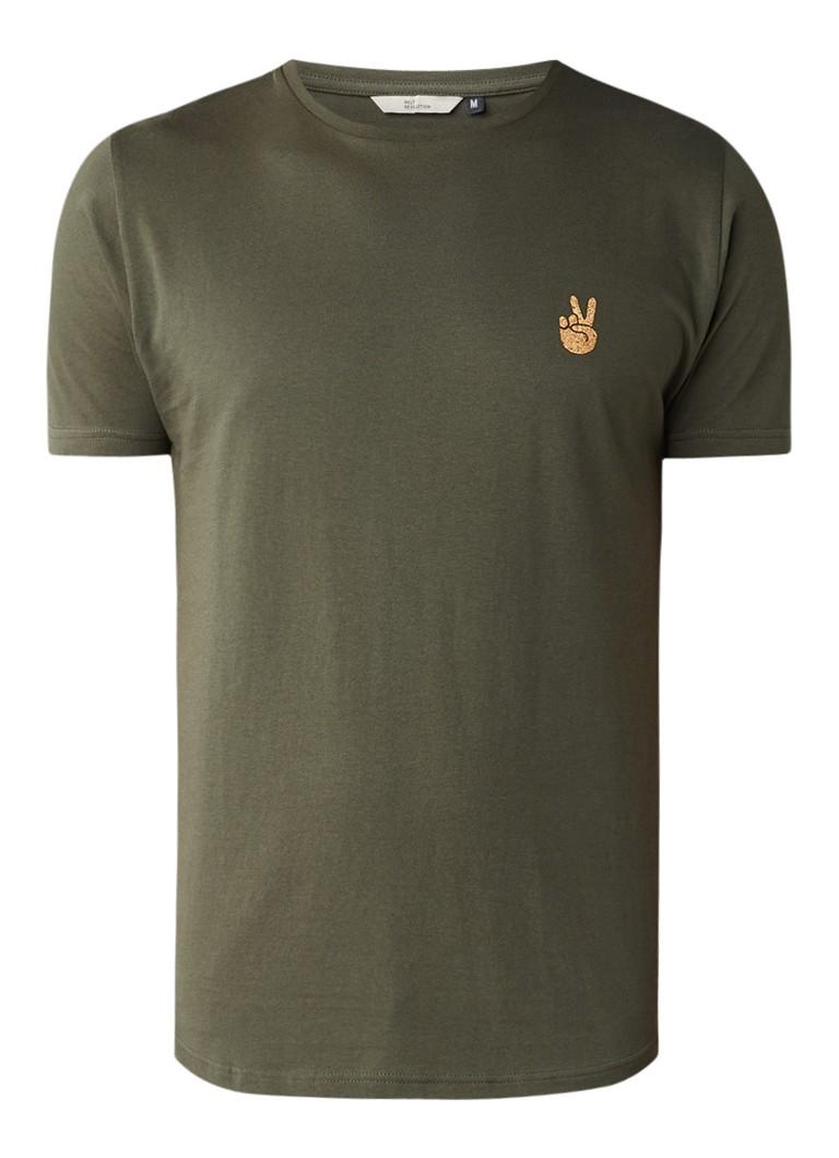 RVLT Revolution Army Peace T-shirt met applicatie