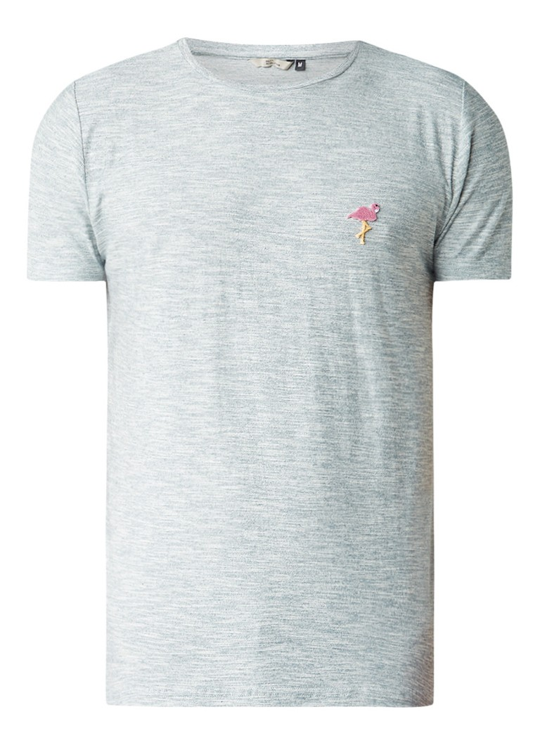 RVLT Revolution Gemêleerd T-shirt met flamingo flcokprint