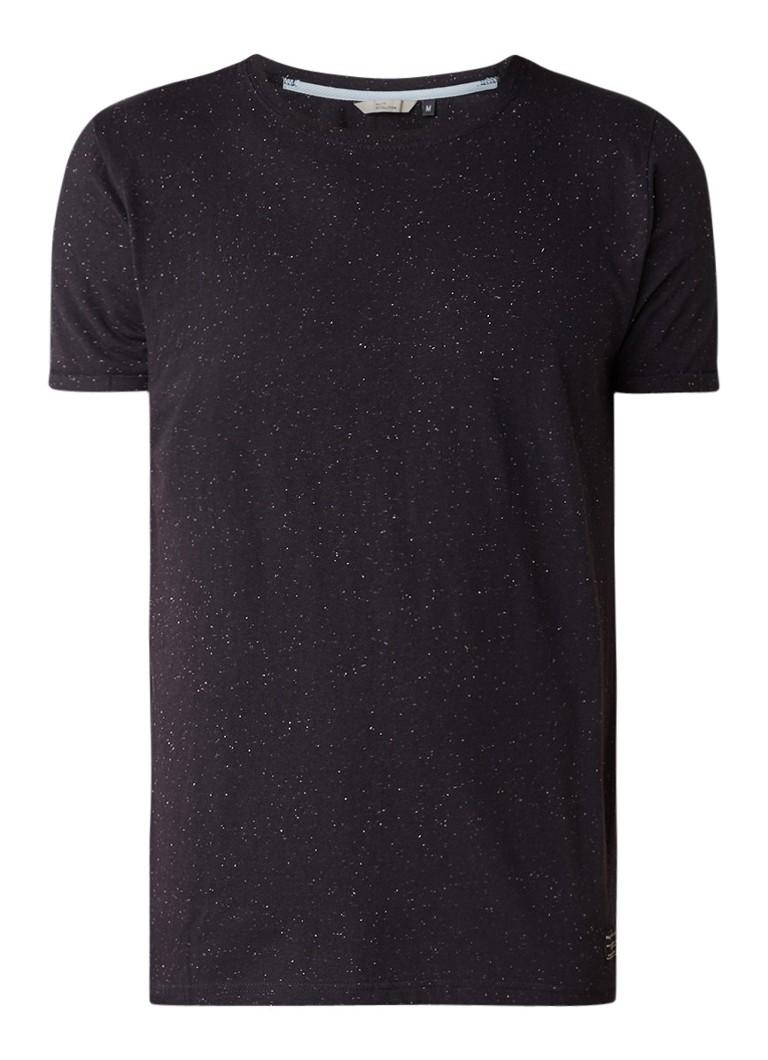 RVLT Revolution Gemêleerd T-shirt met omgeslagen mouw