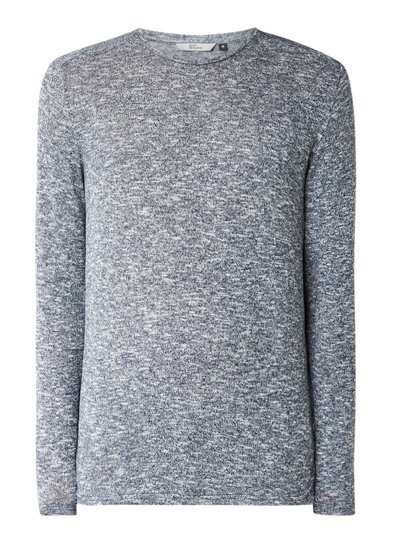 RVLT Revolution Fijngebreide gemêleerde pullover