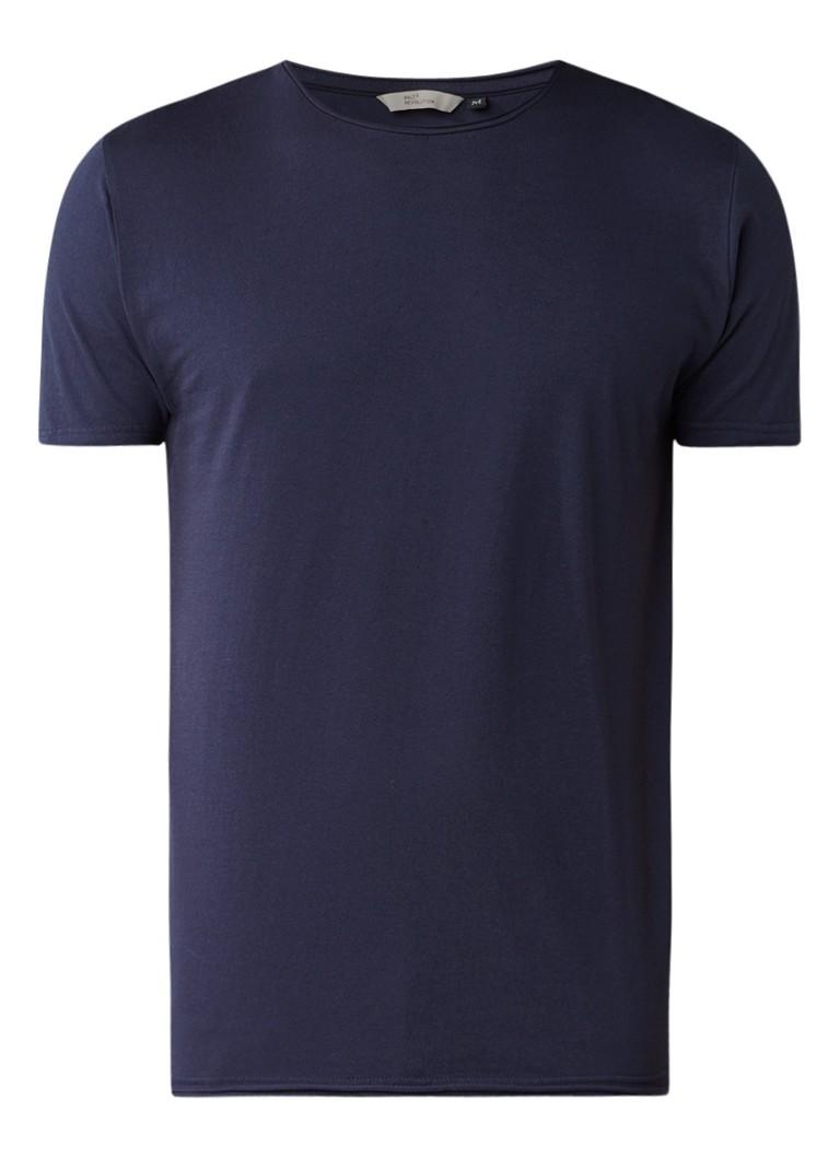 RVLT Revolution T-shirt van katoen met omkrullende zoom