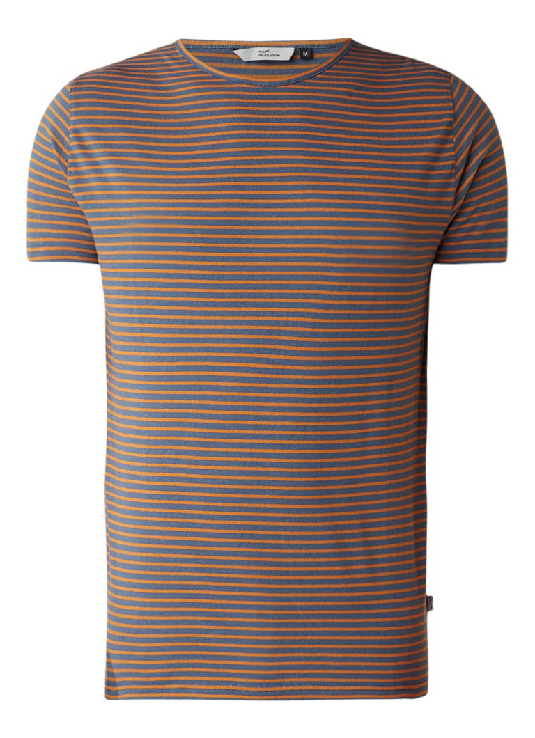 RVLT Revolution T-shirt van katoen met gestreept dessin