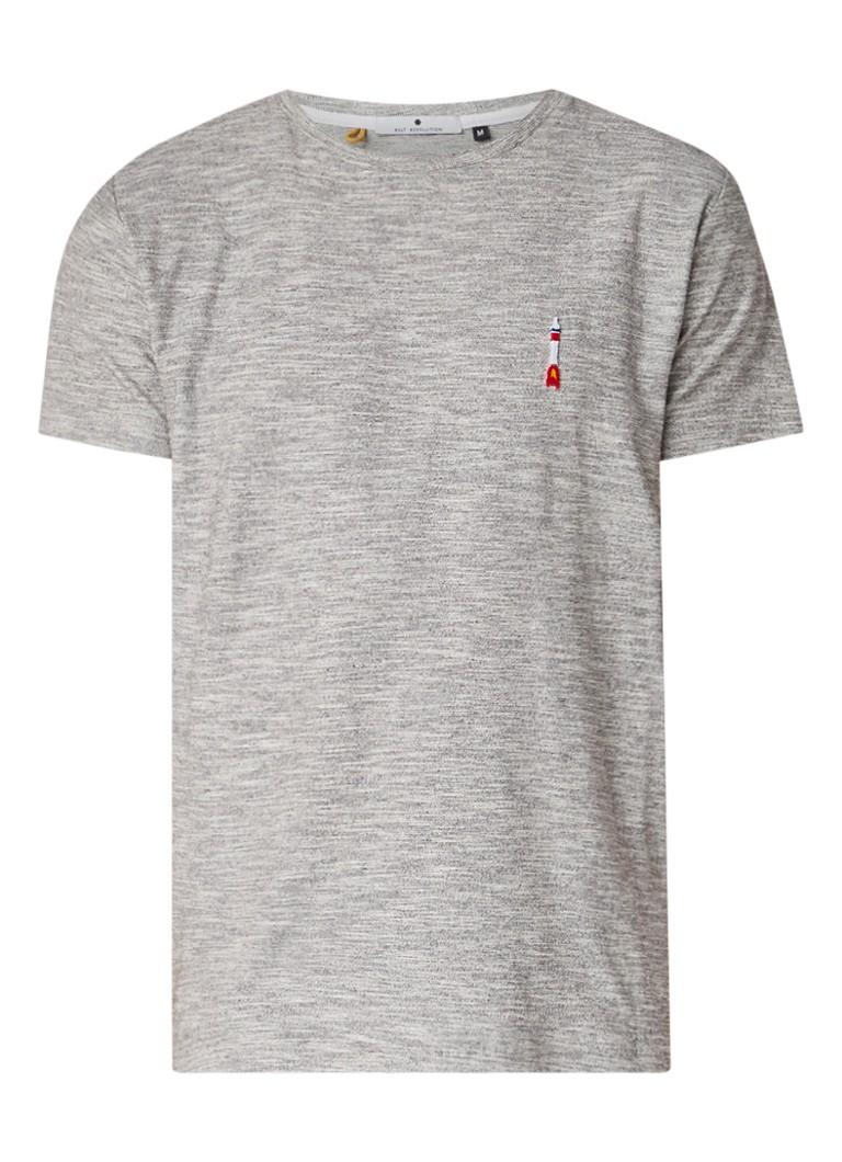 RVLT Revolution Kenneth T-shirt met ingeweven structuur en logo-embleem