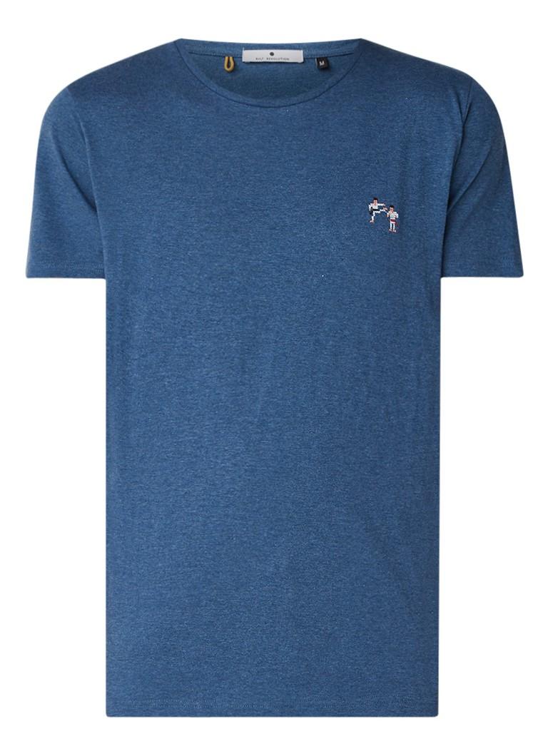 RVLT Revolution Kenneth T-shirt in katoenblend met logo-embleem