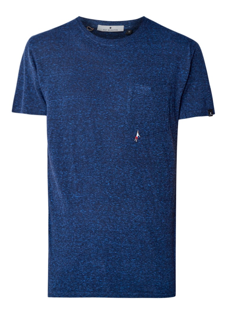 RVLT Revolution Sverre gemêleerd T-shirt met borstzak