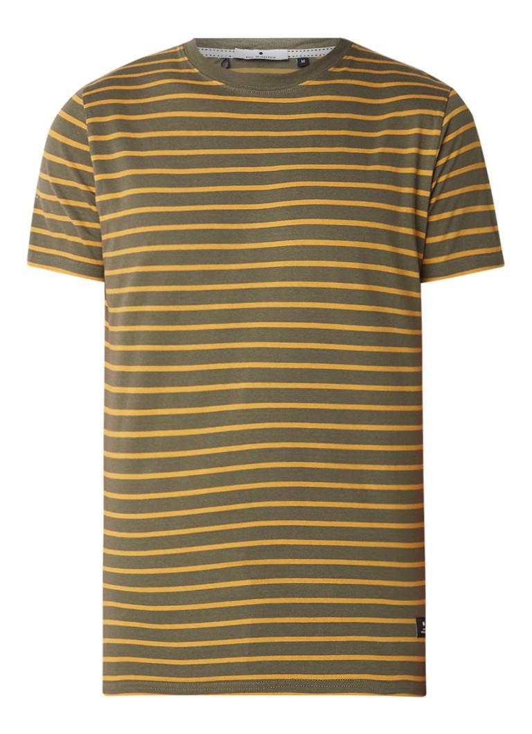 RVLT Revolution T-shirt van katoen met streepdessin