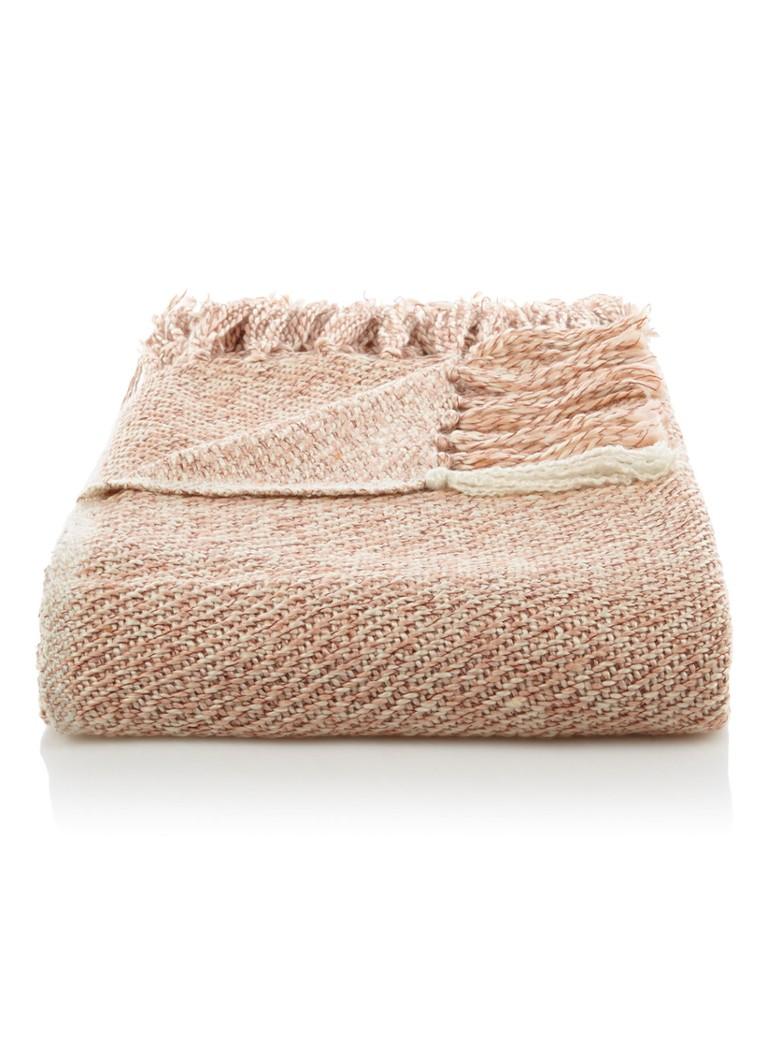 Malagoon Soft Pink Melee plaid 125 x 150 cm