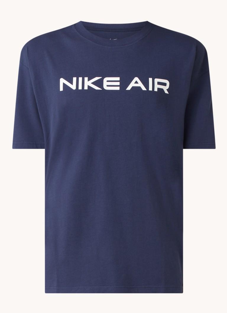 Air trainings T shirt met logoprint