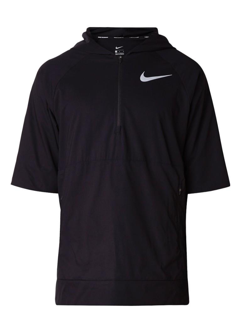 Nike Flex anorak met korte mouw en ritszak
