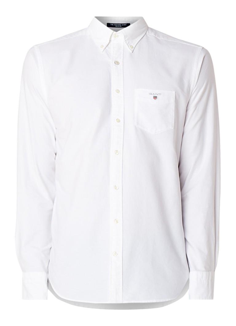 The Oxford regular fit overhemd met borstzak