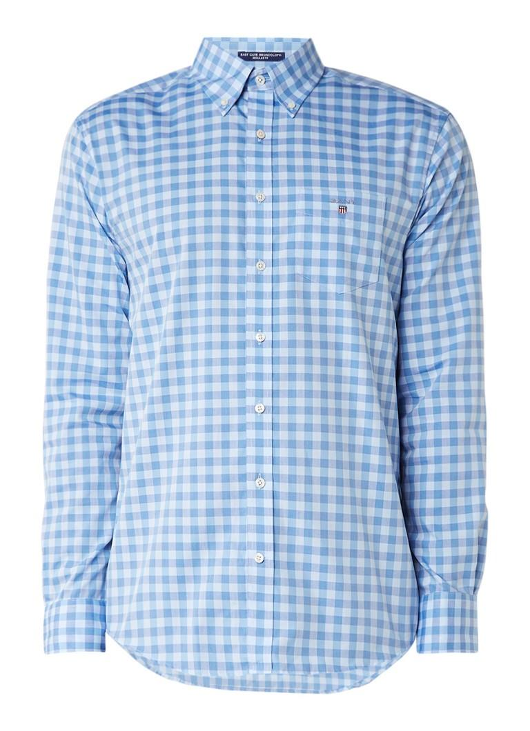 Gant Easy Care overhemd met ruitdessin