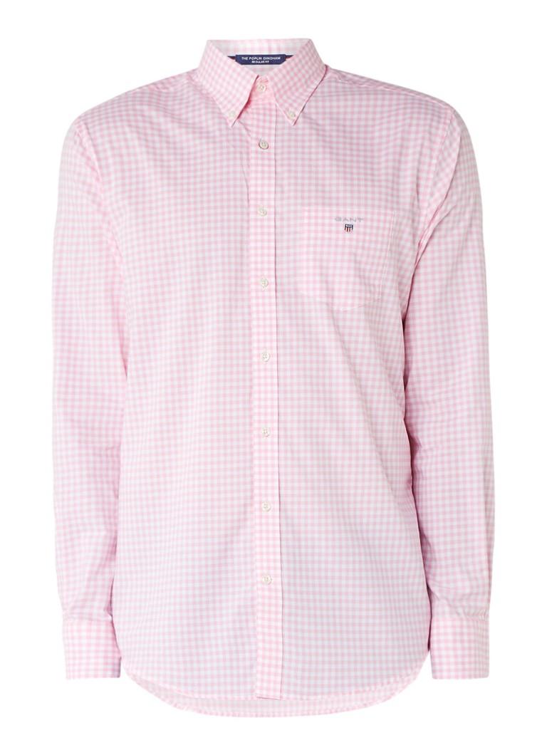 Gant The Broadcloth overhemd met ruitdessin