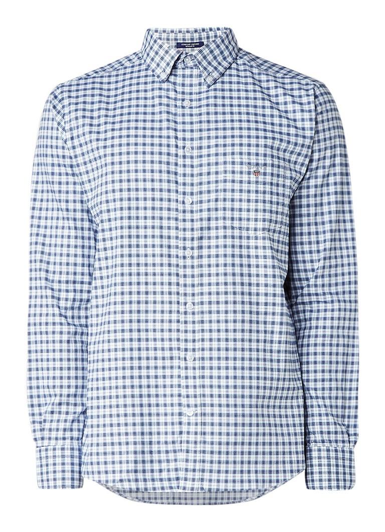 Gant Regular fit overhemd met ruitdessin en stretch