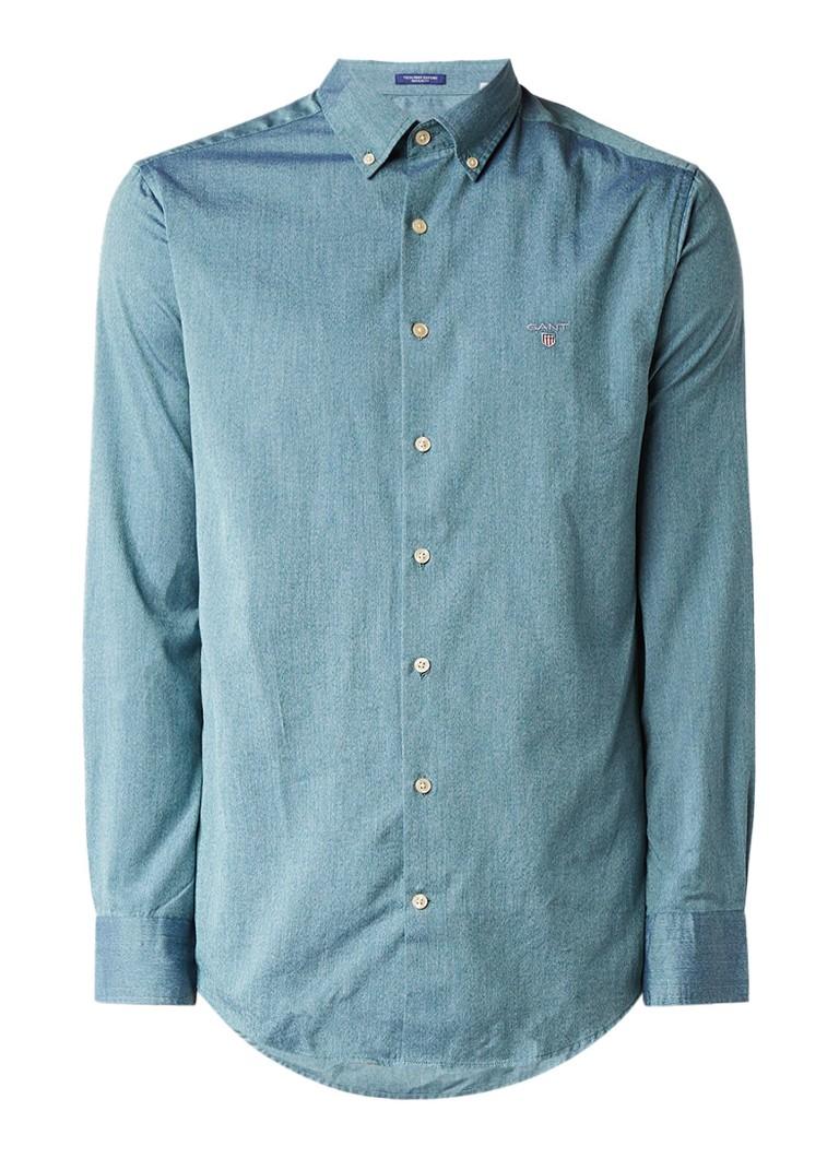 Overhemden Gant Regular fit overhemd met button down kraag Groen