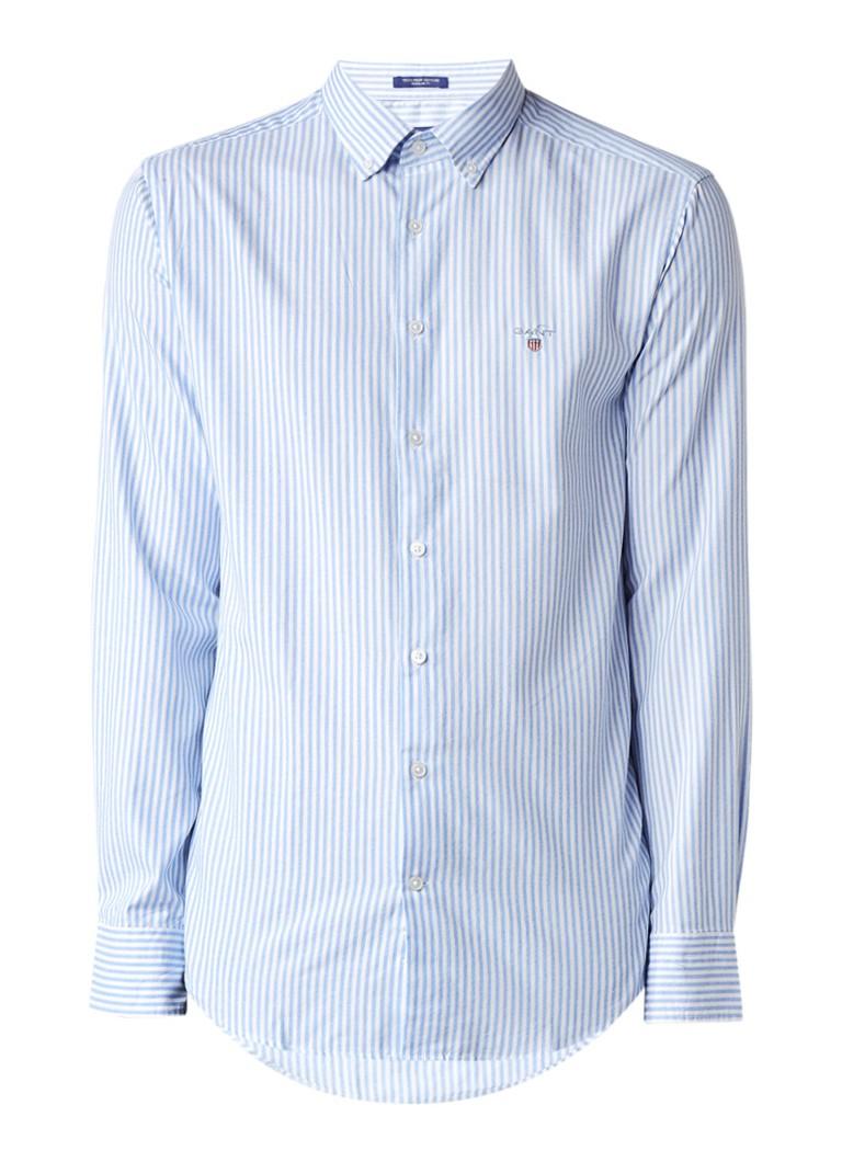 Gant Regular fit button down-overhemd met streepdessin