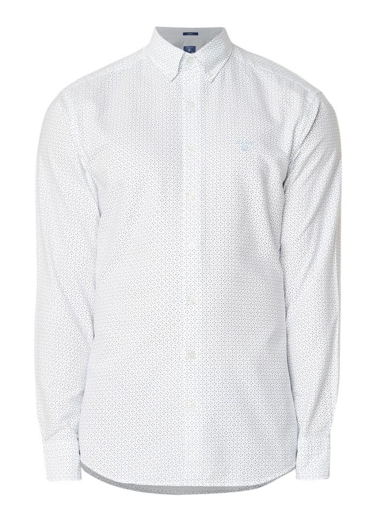 Gant Regular fit overhemd met micro stippendessin