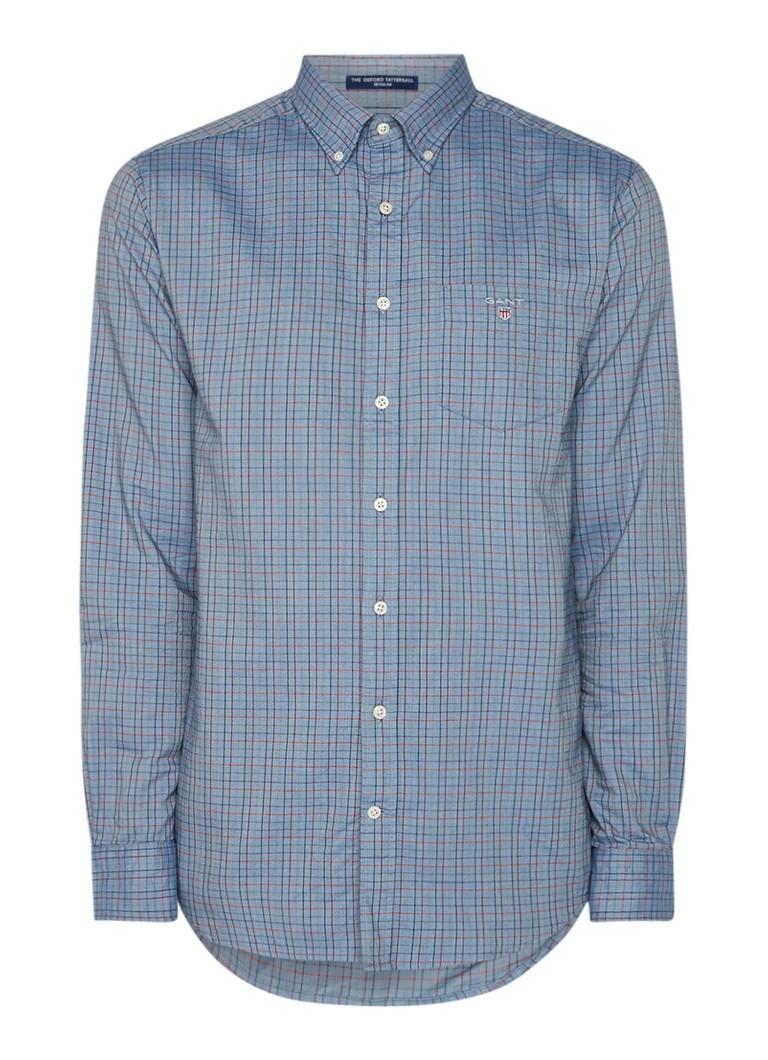 Gant Oxford regular fit button down-overhemd met ruitdessin