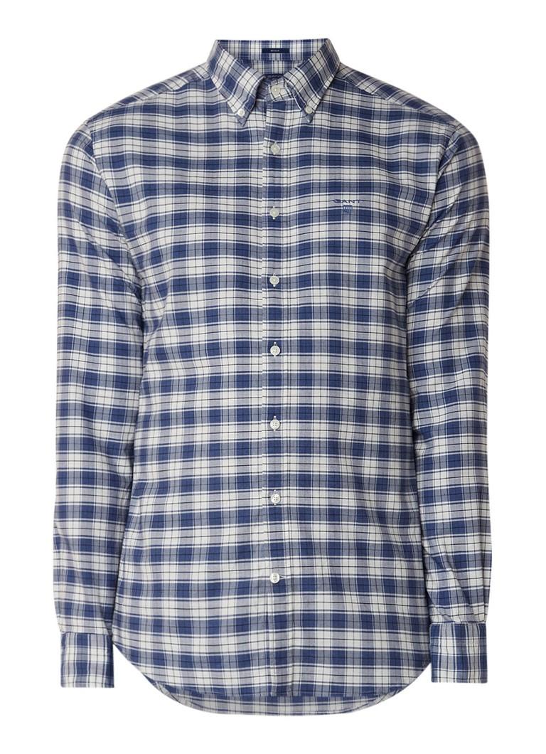 Gant Heather regular fit button down-overhemd met ruitdessin