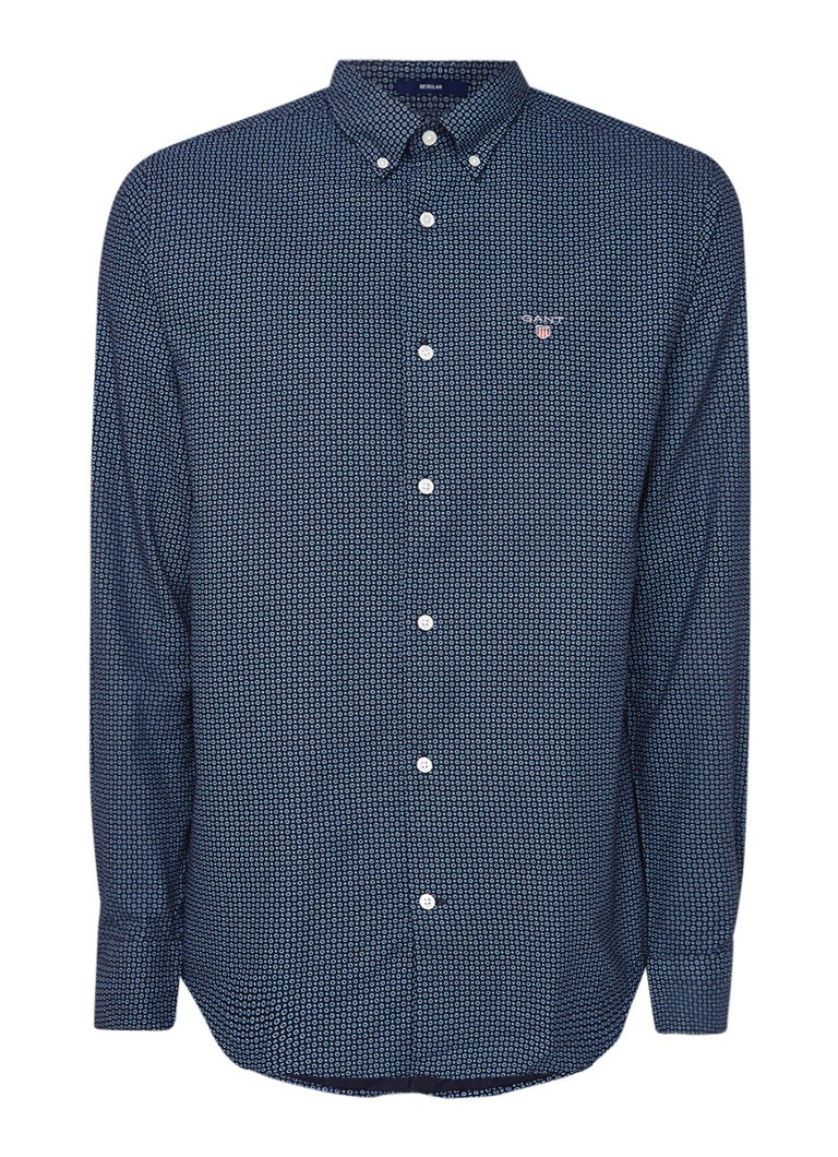 Gant Regular fit button down-overhemd met cirkeldessin