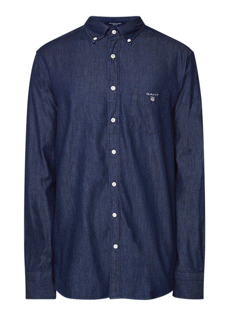 Gant Regular fit button down-overhemd van denim