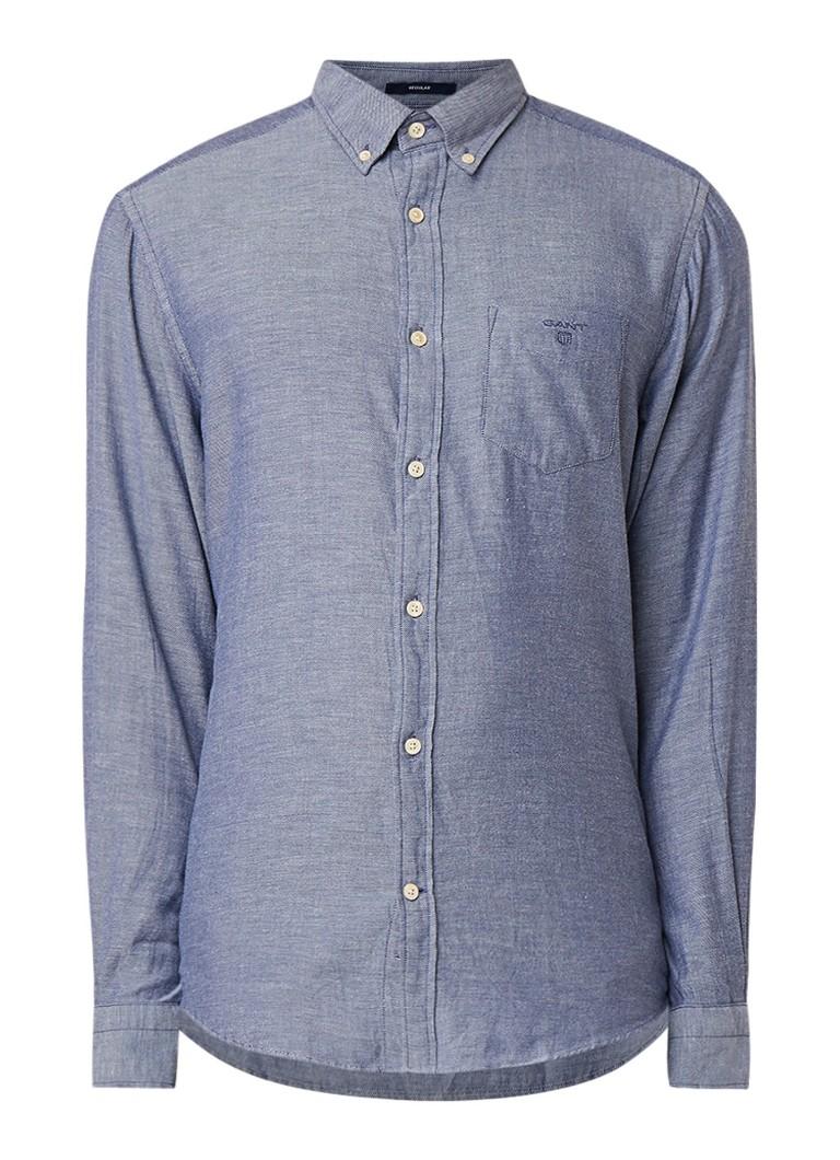 Gant Regular fit button down-overhemd van flanel