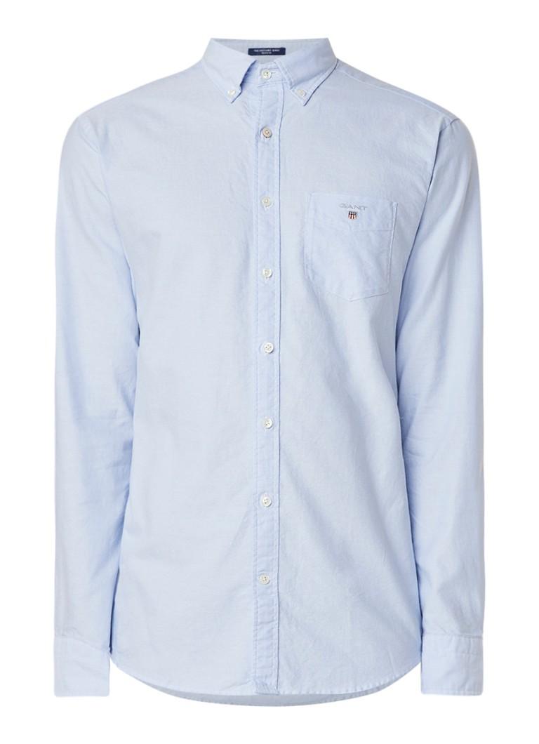 Gant Oxford regular fit button down-overhemd met borstzak