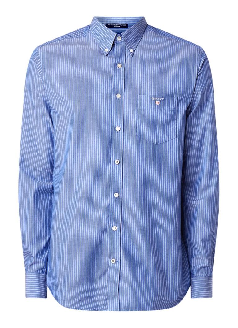 Gant Regular fit button down-overhemd met krijtstreep