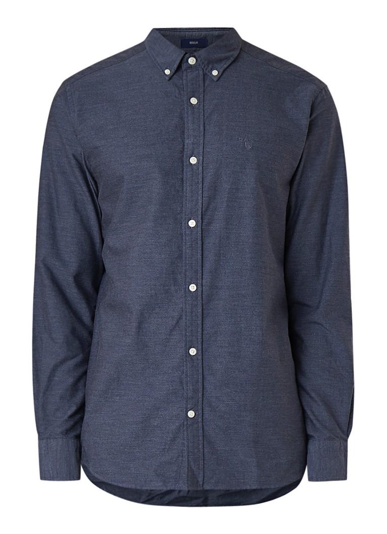 Gant Heather regular fit button down-overhemd van chambray