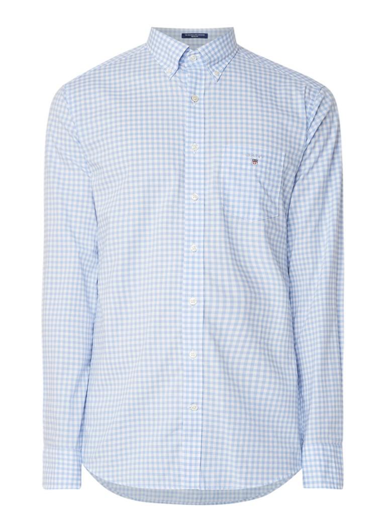 Gant Gingham regular fit button down-overhemd met blokruit