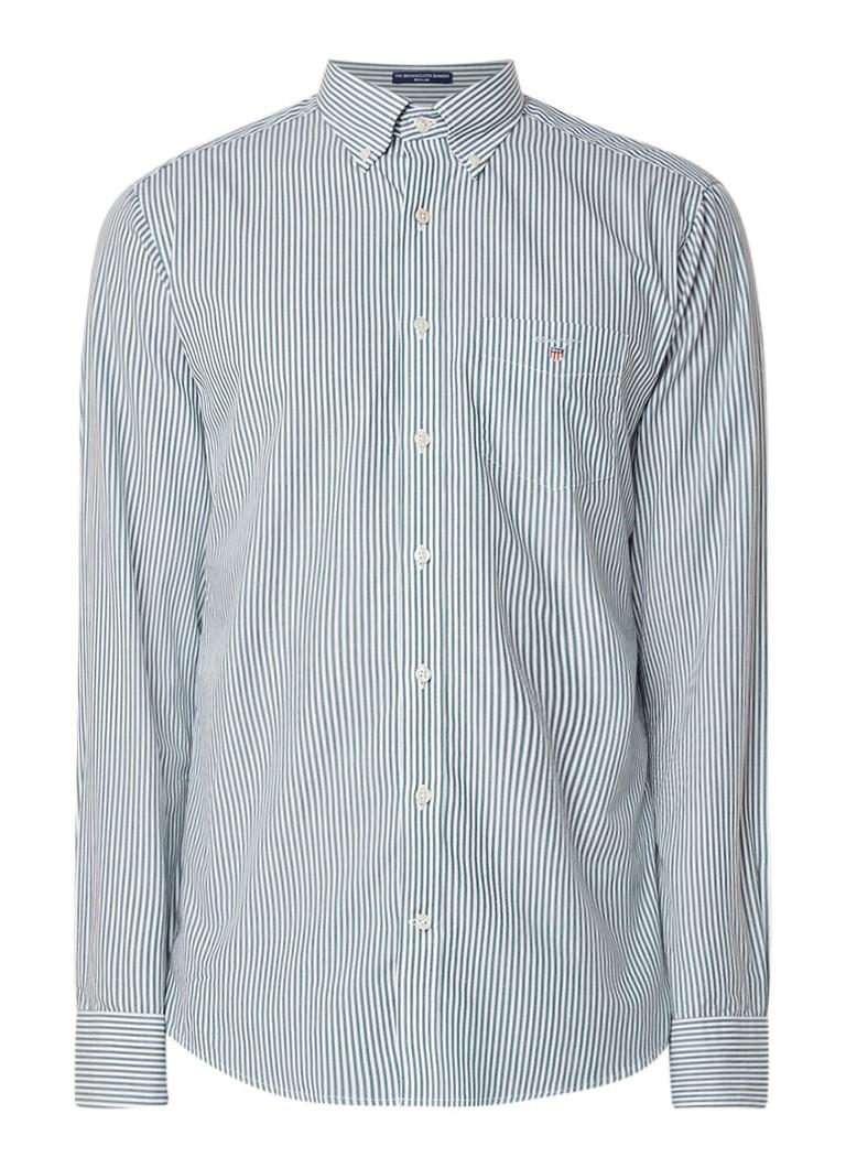 Gant Banker regular fit button down-overhemd met streepdessin
