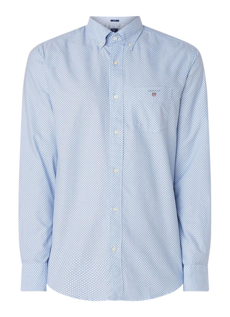 Gant Oxford overhemd met button down kraag en dessin