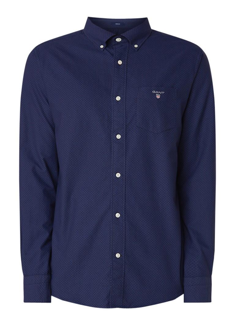Gant Oxford overhemd met button down-kraag en dessin